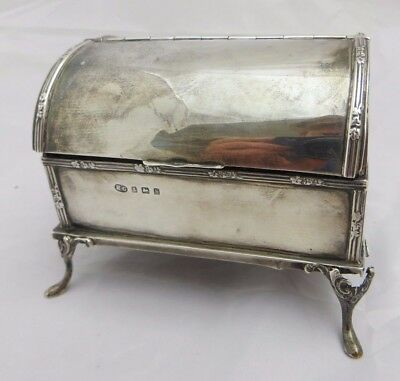 Sterling .925 Silver Trinket Chest, Hallmarked, Birmingham, 1907, Henry Greaves