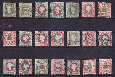 HELGOLAND/HELIGOLAND 1867-1876 Used Lot of 21 Stamps CV €10000 with Signed!