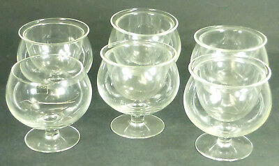 Set of 6 Retro Arabia Finland Glass Shrimp Cocktail Dishes w/ Glass Liners