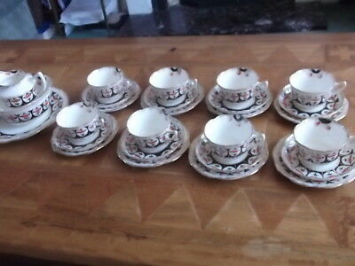 Antique Foley China Tea Service For Eight, Circa. 1906
