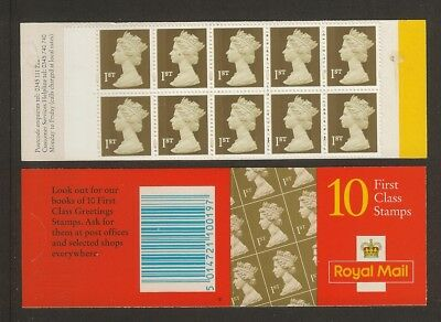 GB Stamps: Decimal Machin Barcode Booklet HD42.