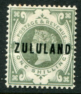 Zululand 1888-93 on GB 1/- SG 10 hinged mint (cat. £150) light crease