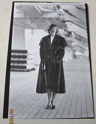 Original Photograph Of Genevieve Tobin On Board Rms Queen Mary In 1937