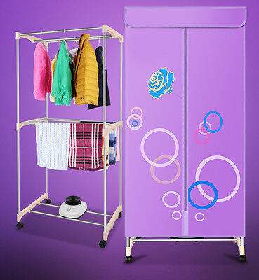 Mute Portable Home Energy-saving Mute Rotary Switch Electric Air Clothes Dryer*