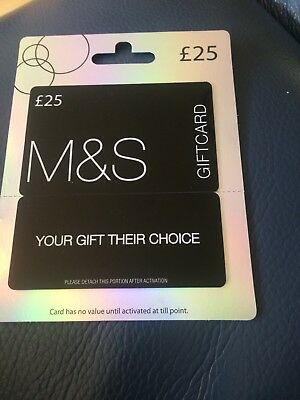 M&S Gift Card £25.00