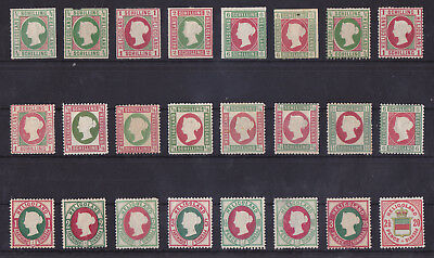 HELGOLAND/HELIGOLAND 1867-1876 Mint Hinged Lot of 24 Stamps Unchecked High CV!