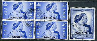 Morocco Agencies (Tangier) 1948 Silver Wedding SG 255-256 used (cat. £25.60)