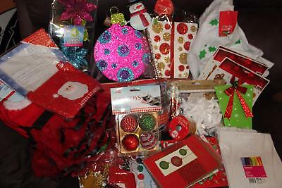 Job Lot 38 Christmas Assorted Items Tags, Stickers Bells Stars Pet Outfit
