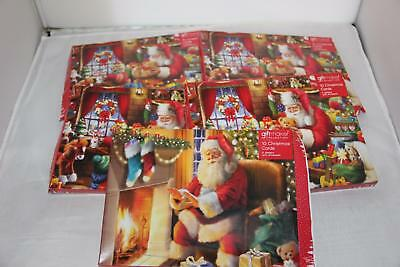 Job Lot 50 Santa Design Father Christmas Cards & Envelopes 5 Boxes Of 10