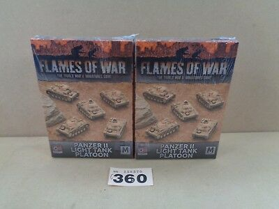 Wargaming Flames of War German Panzer II Light Tank Platoon Clearance Lot 360