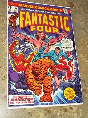 FANTASTIC FOUR #153 Nuclear Man Mahkizmo! Marvel Comic Book Nice High Grade