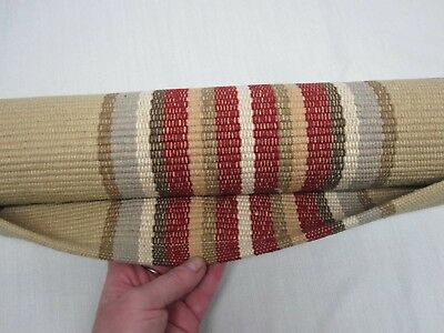 "2 Pottery Barn Red Green Tan Stripe ""abbott"" Cotton 2' X 3' Area Rugs New Sealed"