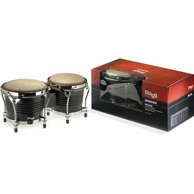Stagg BW-200-BK Latin Wood Bongo Pair - Black