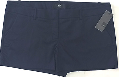 4d3c28f02e1 Mossimo Womens Mid Rise Stretch Short Shorts with Pockets Navy Blue Size 18