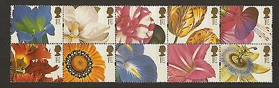 GB Stamps: 1997 Greetings Booklet Pane SG1955a.