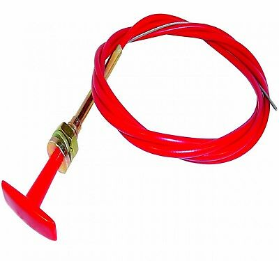 BATTERY KILL MASTER SWITCH  T PULL CABLE 1.8m LENGTH IN RED ADV.27