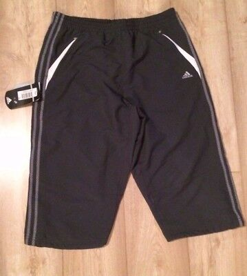 Adidas 3/4 Length Shorts - Beach Trunks - Dark Slate/White New with Price Label