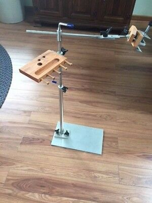 STAINLESS STEEL NEEDLEWORK OR CROSS STITCH FLOOR STAND by K's Creations
