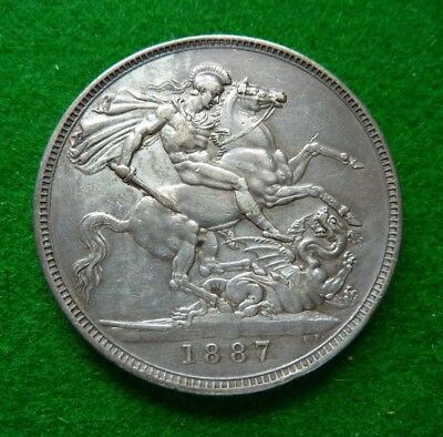 1887 Victoria Crown - Vf+ - Toned