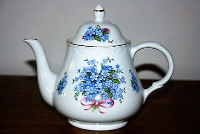 """Very Pretty Arthur Wood """"Forget Me Nots""""  English Small Teapot :- 6438"""