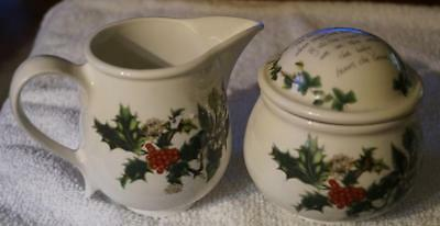 Portmeirion The Holly and The Ivy Creamer and Sugar Bowl MINT Condition