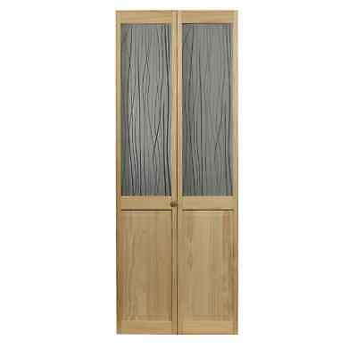 AWC 457 Reeds Glass 36-inch x 80.5-inch Unfinished Bifold Door