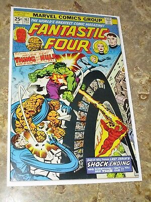 FANTASTIC FOUR #167 / vs THE THING AND THE INCREDIBLE HULK High Grade 1976