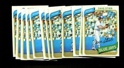 1980 Topps #77 Dave Stieb Rc Lot Of 12 Mint B69029