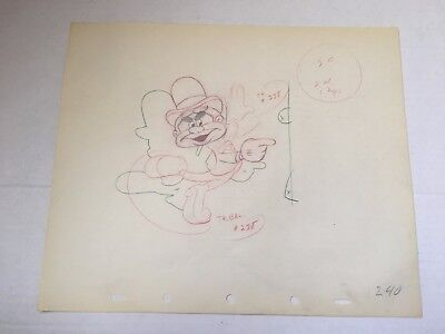 Disney Nifty Nineties Original Production Animation Drawing 1941