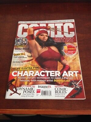 Comic Artist Magazine Special Ed. Imagine Fx With Video Tutorial Disc.