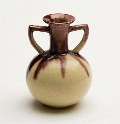 Antique Miniature Whieldon Glazed Creamware Vase 19Th C.