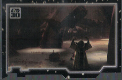 Star Wars 30Th Anniversary Triptych The Power Of The Force Card Piece 1