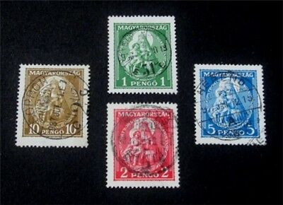 nystamps Hungary Stamp # 462 - 465 Used $75