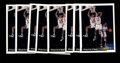 1992 Upper Deck Int'l #220 Shaquille O'neal Rc Hof Lot Of 15 Nmmt *inv4627