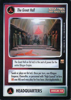 Star Trek Ccg Reflections Super Rare The Great Hall