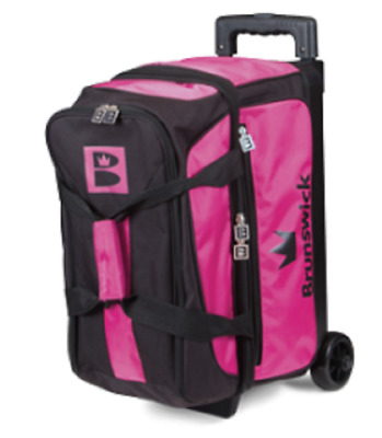 Brunswick Blitz 2 Ball Roller Bowling Bag Color Pink