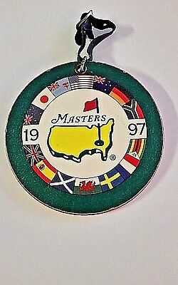 1997 Master's Golf Bag Tag Tiger Woods 1st Major Championship Vintage