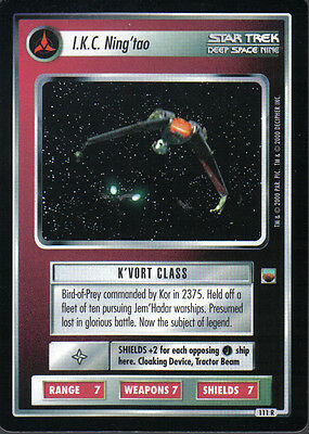 Star Trek Ccg Trouble With Tribbles Rare Card I.k.c. Nig'tao