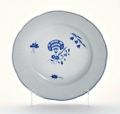 Antique English Porcelain Chantilly Pattern Plate 18Th C.