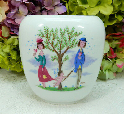 Rosenthal Peynet Porcelain Retro Mid Century Vase Pot French Lovers Cupid