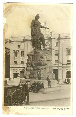 Aberdeenshire - a photographic postcard of the Wallace Statue