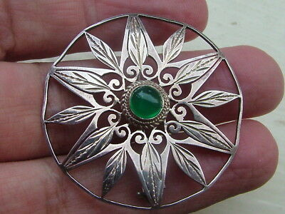 Silver Old Brooch
