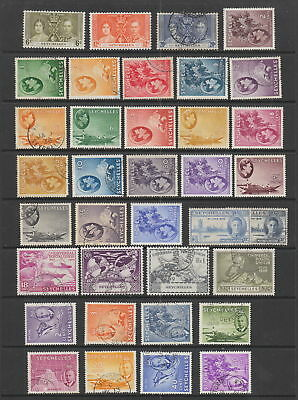 Seychelles KGVI collection , 36 stamps.