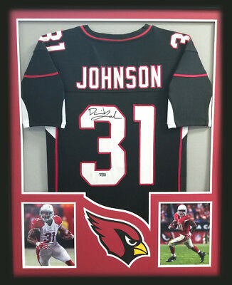 sale retailer a73d3 0d4d1 DAVID JOHNSON AUTOGRAPHED/SIGNED Framed Arizona Cardinals Black Custom  Jersey