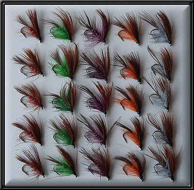 25 DABBLERS SCOTTISH HAND TIED WET FLIES NEW TROUT FISHING FLY for rod reel line