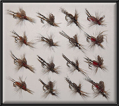 16 SCOTTISH BASTARD MIDGE FLIES HAND TIED TROUT FISHING FLY fo rod reel size 16'