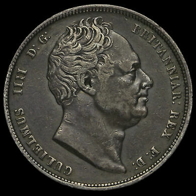 1836/5 William IV Milled Silver Half Crown, Extremely Rare, VF