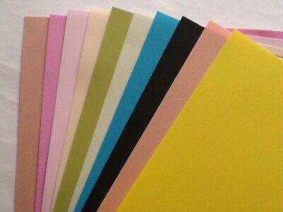Foamiran A4 0.6mm 10 Sheets Mixed Colours Special Offer