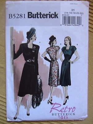 Schnittmuster Kleid 1946 Butterick B5281 Swing Hollywood hepcat jive Rockabilly