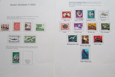 XL2882: Collection of Cocos (Keeling) Islands Stamps (1963 - 69)
